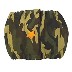 ClearQuest Cotton/Polyester Male K-9 Dog Wrap, X-Small, Star, Camo