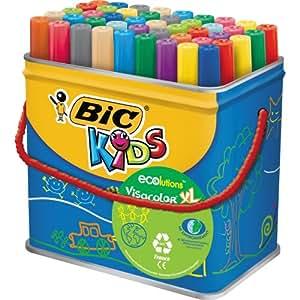 BIC Kids VisaColor Evolutions Pot de 48 Feutres de Coloriage XL