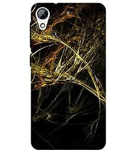 Chiraiyaa Designer Printed Premium Back Cover Case for HTC Desire 626 (pattern yellow fire) (Multicolor)