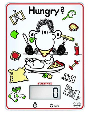 Soehnle 0866304 Hungry Balance Electronique Verre de Sécurité Blanc 5 kg/1 g