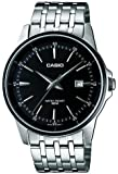 Casio Men's Quartz Watch with Black Dial Analogue Display and Silver Stainless Steel Bracelet MTP-1344AD-1A1VEF