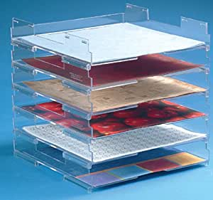 """12""""x12"""" Stacking Paper Trays (10)"""