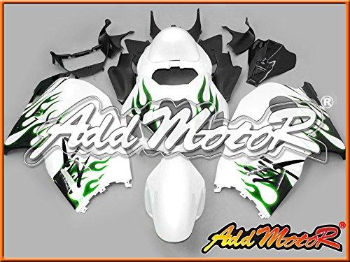 Addmotor フルカウルセット ストリート バイク SUZUKI GSXR1300 GSXR 1300 GSX1300R Hayabusa 1996 1997 1998 1999 2000 2001 2002 2003 2004 2005 2006 2007 96-07 用 グリーン 火炎 S3615
