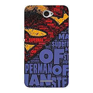 Cute Red Day Blue Typo Back Case Cover for Sony Xperia E4