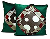 2pcs Green Silk Pillow Covers Indian Modern Luxury Sofa Cushion Covers