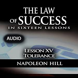 The Law of Success, Lesson XV: Tolerance Audiobook