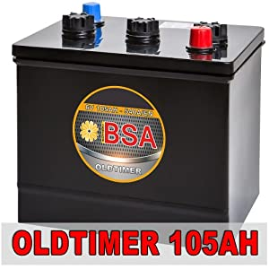 bsa 6v 105ah oldtimer batterie autobatterie f r oldtimer 6. Black Bedroom Furniture Sets. Home Design Ideas