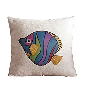 How To Make Cute Pillow Cases : Amazon.com - GardenHome Cute Fish Pillow Case