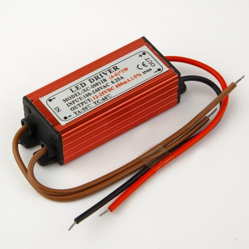 Ruichen 4-6 Series 3 Parallel Led Driver Power Supply Input 100-240V Output 12-25Vdc 600Mah Waterproof Level Ip65