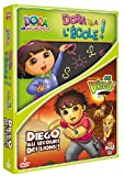 Image de Dora l'exploratrice - Dora va à l'école + Go Diego! - Diego au secours des lions !