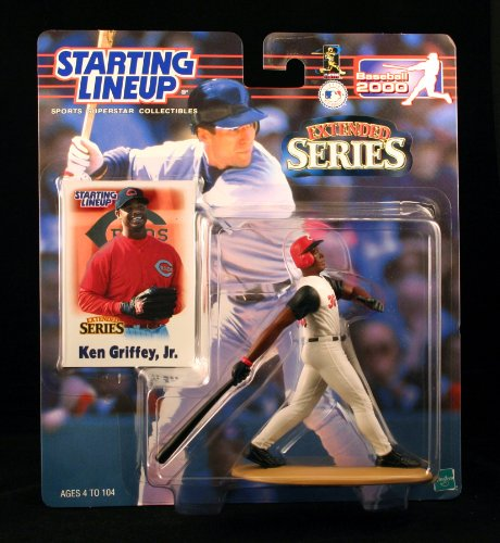KEN GRIFFEY JR. / CINCINNATI REDS 2000 MLB Extended Series Starting Lineup Action Figure & Exclusive Collector Trading Card - 1