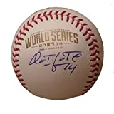 Omar Infante Autographed / Signed 2014 World Series Rawlings Official Game Baseball, Kansas City Royals, KC, WS, Proof Photo