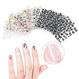 Nail Art Sticker-Tinksky 50 Blatt 3D Nail Art Sticker Aufkleber Nail Tips-Dekorationen