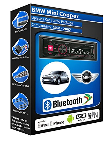 BMW Mini Cooper autoradio Alpine UTE 72BT mains-libres Bluetooth pour autoradio stéréo