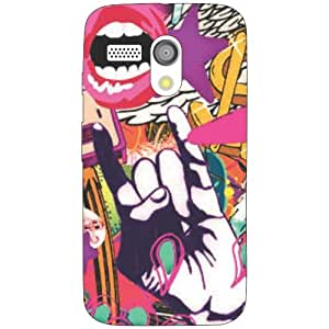 Moto G funky Phone Cover - Matte Finish Phone Cover
