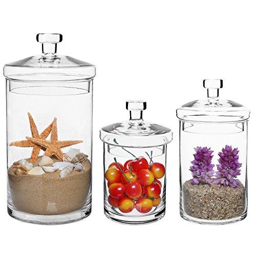 awardpedia apothecary jar 3 piece set wedding candy buffet. Black Bedroom Furniture Sets. Home Design Ideas
