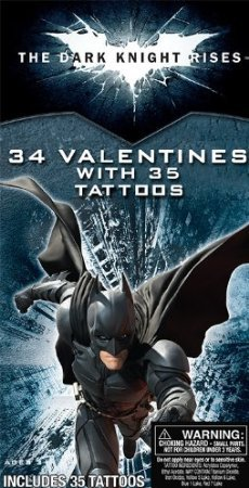 Paper Magic Deluxe Batman Valentine Exchange Cards with Bonus Tattoos (34 Count) - 1