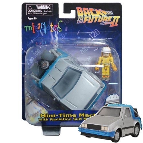 Minimates Vehicles Wave 1 - Back to The Future Time Machine Vehicle with Radiation Suit Marty McFly