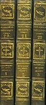 Encyclop�die th�ologique. tomes 20, 21 et 22 : dictionnaire des ordres religieux (en 3 volumes) par H�lyot