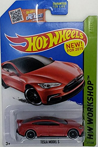 Hot Wheels, 2015 HW Workshop, Tesla Model S [Red] Die-Cast Vehicle #217/250 (Tesla Model S Hot Wheels compare prices)