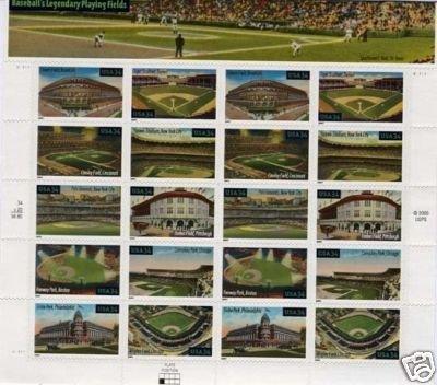Baseball's Legandary pane 20 x 34 cent U.S. Stamps 2000