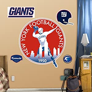 FH1414047 NFL New York Giants Classic Logo Vinyl Wall Graphic Decal Sticker by Fathead