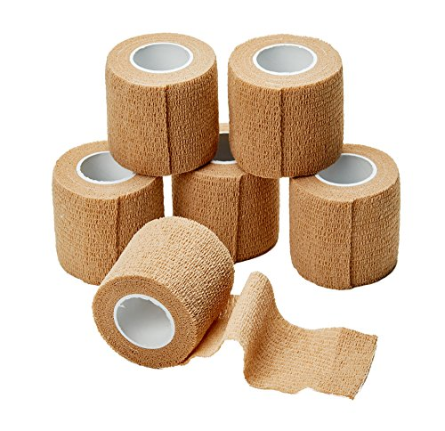 medca-self-adherent-cohesive-wrap-bandages-2-inches-x-5-yards-6-count-with-strong-elastic-first-aid-