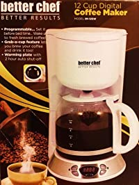 Better Chef 12-Cup Digital Coffeemaker - White