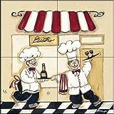 The Tile Mural Store - Bistro by Joy Alldredge - Kitchen Backsplash / Bathroom wall Tile Mural
