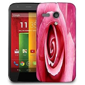 Snoogg Pink Rose Designer Protective Phone Back Case Cover For Motorola G / Moto G