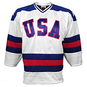 1980 USA Olympic *Miracle On Ice* Replica Home Jersey - Size Small