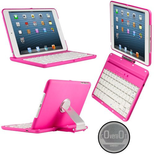 CoverBot iPad Mini Keyboard As it Crotchet PINK. Bluetooth Keyboard For 7.9 Inch New Mini iPad with IOS Commands. Folio Look Concealment with 360 To a pre-receivable limit Rotating Viewing Medica