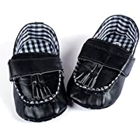 Baby Bucket Guess Fashion Sneakers New born to Infant Loafers Shoes (0-6 Months, Black)