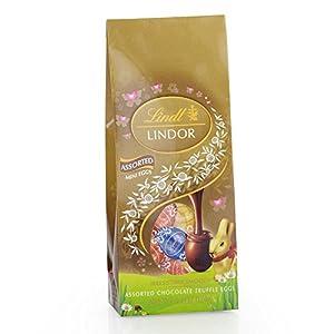 Lindor Milk Chocolate, Assorted Mini Egg Bag, 4.4 Ounce (Pack of 12)