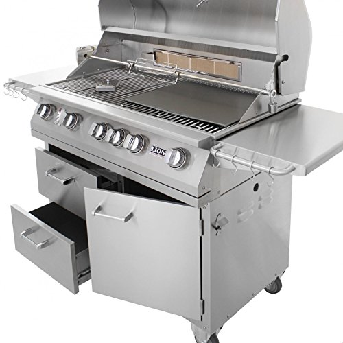 Lion 40 inch stainless steel propane gas grill on cart best prices - Grille barbecue 70 x 40 ...