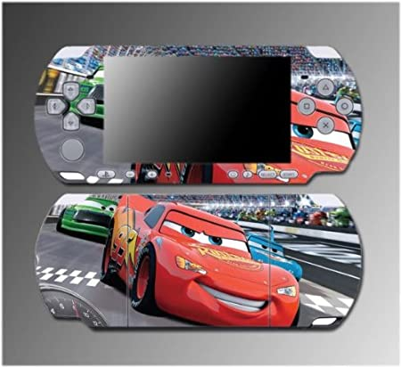 Cars 2 Racing Movie Lightning McQueen Game Vinyl Decal Sticker Cover Skin Protector #3 for Sony PSP Slim 3000 3001 3002 3003 3004 Playstation Portable