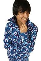 Party Hemd 70er Dots Muster Blau
