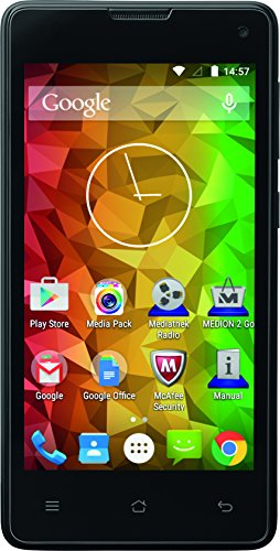 Medion E4503 (MD 99232) Smartphone (11,4 cm (4,5 Zoll), 3G, 5 Megapixel Kamera, Android 5.0) titan