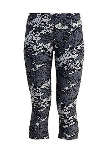 Nike Women's Dri-Fit Legend Poly Tight Training Capris-Black/Dark Grey/White-Medium