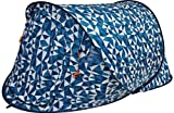 Regatta 2 Man Pop Up Tent - Blue and White / Geometric Design