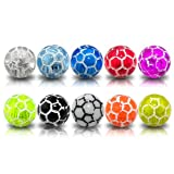 UV Balls 5 Pairs ( 10 pieces) Mix Color Pack 1.6x5MM Threaded UV Football Acrylic Ball Body Piercing Barbells