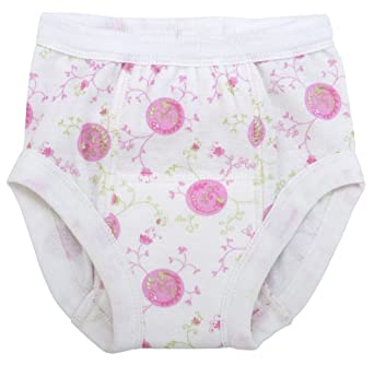 UNDER THE NILE APPAREL Baby-girls Infant Training Pants, Pink/White, 2-4 Years