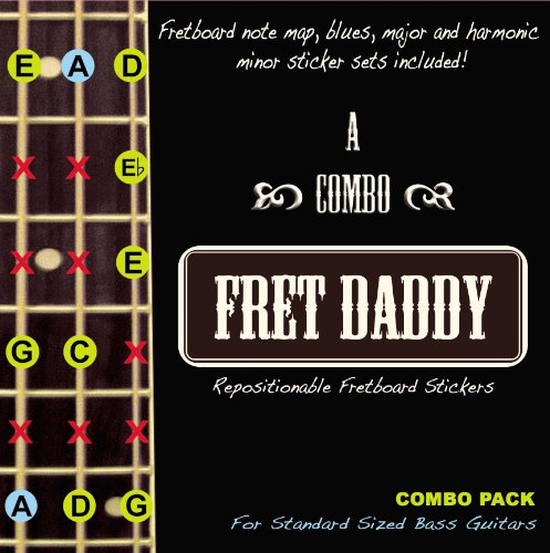 Fret Daddy Combo Pack for Standard Sized Bass Guitar
