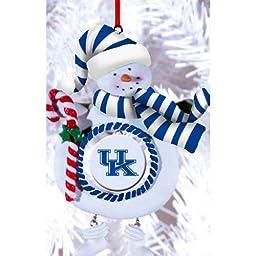 Kentucky Wildcats Clay Snowman Ornament