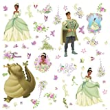 RoomMates RMK1423SCS the Princess and the Frog Wall Decals with 3D Butterflies