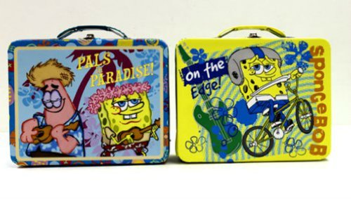 Spongebob Large Carry-all Lunchbox - assorted colors sent at random - 1 tin per purchase