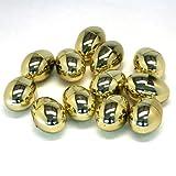 Fun Express Golden Metallic Easter Eggs - 12 Piece Pack