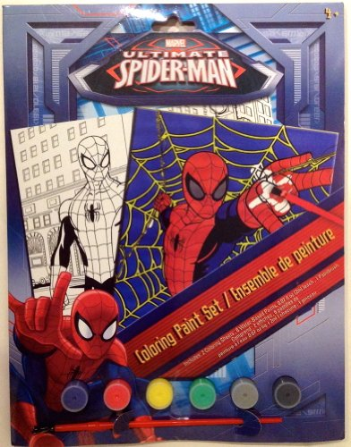 Marvel Ultimate Spiderman Coloring Paint Set by Disney