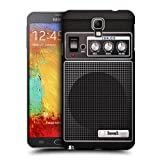 Head Case Designs Black Acoustic Guitar Amp Protective Snap on Hard Back Case Cover for Samsung Galaxy Note 3 Neo N7505