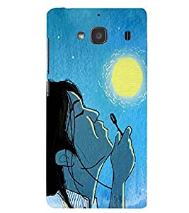 PRINTSWAG GIRL WITH MOON Designer Back Cover Case for XIAOMI REDMI 2S